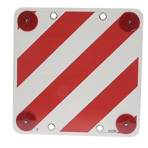 Waarschuwingsbord voor caravan rood/wit met reflector.