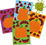 Funnlot Halloween Crafts for Toddlers Fall Party Favors for Kids Make a Pumpkin Stickers Pumpkin Face Stickers Halloween Activities for Kids Make Your Own Jack o Lantern Stickers