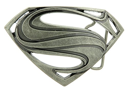 Superman Antique Silver Belt Buckle