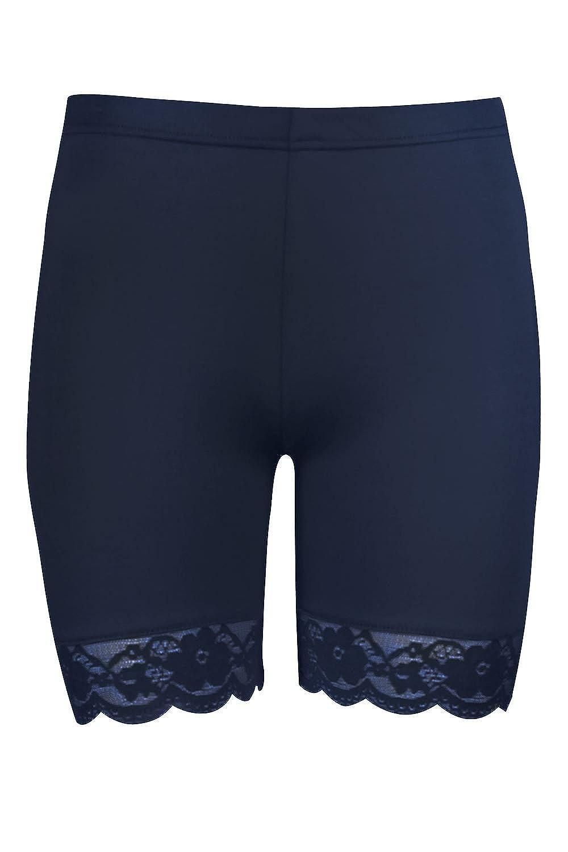 Be Jealous Jersey Sports Lace Trim Womens Hot Pants Shorts