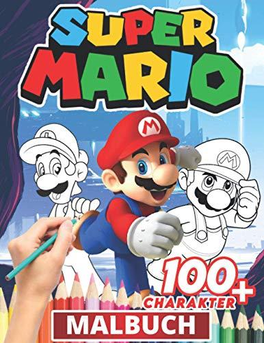 Super Mario Malbuch: Lustige Malbücher für Kinder von Malbuch für Kinder im Alter von 4-6, 6-8, 8-12! +100 Anti-Stress-Zeichnungen für Kinder, kreative Aktivitäten für Kinder - Malbuch für Kinder