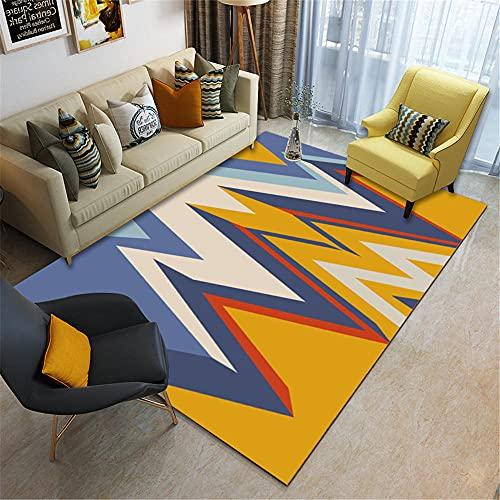Alfombra alfonbras Infantil Alfombra de la Sala de Estar del Dormitorio de Estilo geométrico Moderno Rojo Azul Amarillo alfombras para Comedor 200*280cm