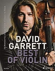 David Garrett ED23140 Best Of Violin - 16 chansons merveilleuses de Classic to Rock avec pince à partitions colorée en forme de cœur