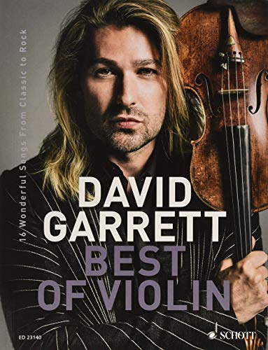 David Garrett Best Of Violin - 16 Wonderful Songs from Classic to Rock - ED23140 mit bunter herzförmiger Notenklammer
