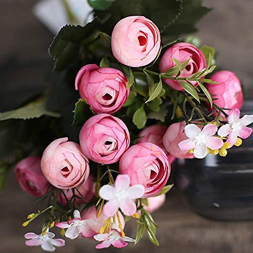 Sonze Flor de té de simulación, decoración de Boda Hecha a Mano Flor-E,Ramo de Flores Artificiales,decoración, centros de Mesa