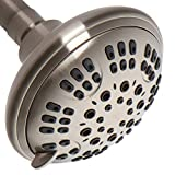 ShowerMaxx, Luxury Spa Series, 6 Spray Settings 4.5 inch Adjustable High Pressure Shower Head, MAXX-imize Your Shower with Showerhead in Brushed Nickel Finish