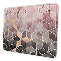 マウスパッド ゴールデン 幾何学模様 菱形 ラウンド01 マウスマット 防水 オフィス用マウスパッド