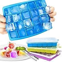 stampo ghiaccio con coperchio, set di 3 stampi silicone con 1 pinza per cubetti ghiaccio, 2.5 * 2.5 cm ice cube molds, ice trays, cubo ghiaccio, ghiaccio stampo, vaschetta del ghiaccio vassoio