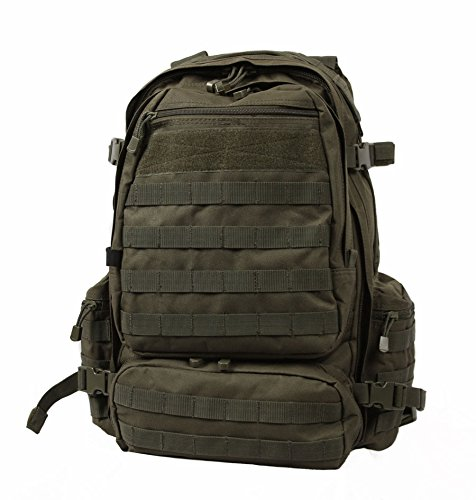 LA Police Gear Operator MOLLE Tactical, Military, Police Backpack Hydration Compatible-Green