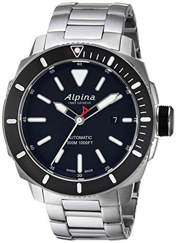 Alpina Reloj analógico para Hombres de con Correa en Acero Inoxidable AL-525LBG4V6B