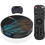 TV Box, HK1 MAX RK3318 Quad-Core Android 10.0 TV Box con Mini Teclado Inalámbrico 4GB RAM/32GB ROM Soporte 2.4Ghz/5.0 GHz WiFi Bluetooth 4.0/4K/3D/TV Box
