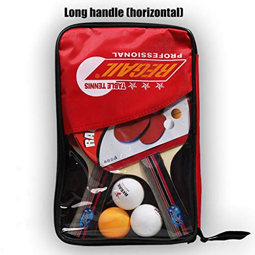 Find Discount Sunday88 1 Pair Ping Pong Paddle Set, 3 Advanced Table Tennis Ball, Portable Accessori...
