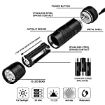 Beinhome 5 Pack UV Torch Flashlight Black Light Ultraviolet Light 12 LED Ultra Violet Blacklight Detector for Dog Urine, Pet Stains, Bed Bug, Scorpion with 5 AAA Free Batteries 10
