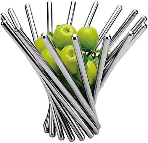 Cesta plegable creativa de la fruta hecha de acero inoxidable, plegable telescópica personalizada tazón de fruta, para que el titular de bocadillos de pan decorativos, utensilios de cocina rack