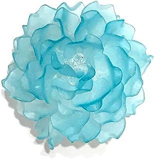 【完成品】フラワーティーライト・ブルー プレゼント 贈り物 記念日 バースデー テーブルセッティング ベッドサイド 明かり 照明 (blue))