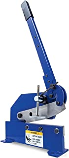 Eastwood 8 in. Bench Shear Throatless Multiple Purpose Bench Top Throatless Sheet Metal Cutter Tool Solid Steel Frame Mounting Type