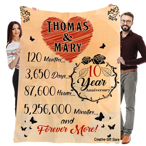 Custom Anniversary Fleece Blanket for Your Life Partner with Quotes, Unique Couple Gift for Wedding Valentine's Day Birthday Christmas, Supersoft and Cozy Blanket (60