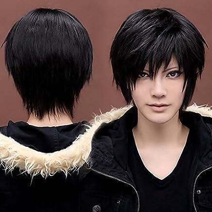 Boy's Men's Kylin Black Hair Wig Mens Male Black Short Hair Cosplay Anime.AU