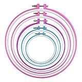 Pixnor–5Unidades de mano de costura para almazuela, y Cross Juego de punto de Hoop de 12,7hasta 27,2cm