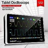 JINKEBIN Osciloscopio ADS1013D 2 Canales Osciloscopios Digitales 100MHz *2 Ancho de Banda 1GSA/S Tasa de muestreo de 7 Pulgadas Pantalla de Tacto LCD Osciloscopio (Color : ADS1013D)