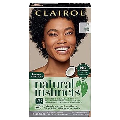 Clairol Natural Instincts Semi-Permanent, 2 Black, Midnight, 1 Count