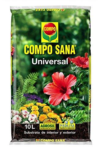 Compo 1113124011 Sana Universal 10 L [Tierra, Sustrato, Turba, Plantas - Calidad...