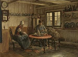 The Perfect Effect Canvas Of Oil Painting 'Xavier Mellery,Interior In Marken,1845-1921' ,size: 30x41 Inch / 76x105 Cm ,this High Definition Art Decorative Canvas Prints Is Fit For Study Artwork And Home Artwork And Gifts
