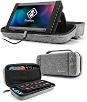 tomtoc Protective Case for Nintendo Switch Hard Shell Travel Storage Carrying Case Cover Box with 24 Game Cartridges and...