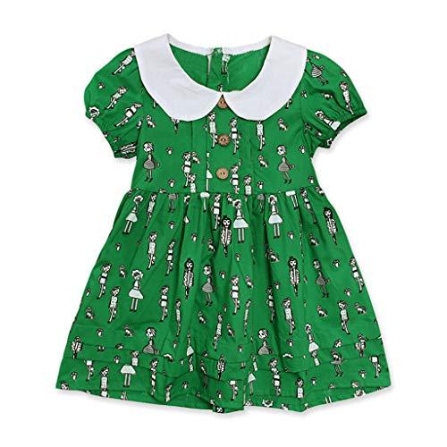 HEETEY HEETEY Kleid Rock Kleinkind-Säuglingsbaby-Mädchen-Oansatz Prinzessin Dress One Piece Doll Kragen Kurzarm Tutu Urlaub Prinzessin Kleider