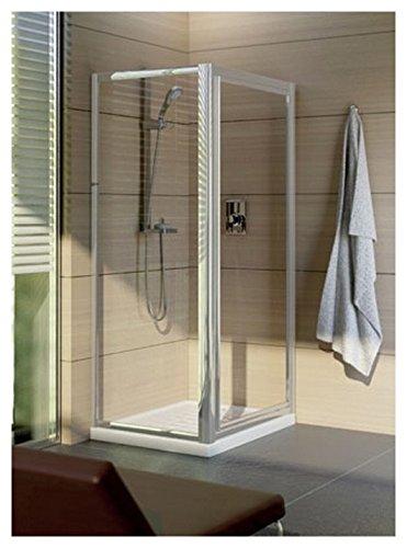 Mampara de ducha lateral fijo tipica-l 80 cm cristal pulido Cincilla, Plata Réf t2348yb: Amazon.es: Bricolaje y herramientas