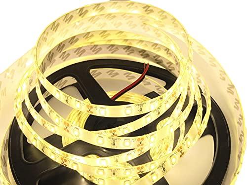 Ogeled Tira de luces LED SMD 5730 superbrillante por metro, flexible, con cinta adhesiva, 12 V, CRI90 (resistente al agua, luz blanca cálida, 2 m)