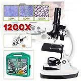 Microscopios Monoculares para Estudiantes Y Adultos Disco Rotativo De Filtro De Color Microscopio Biológico 100X/600X/1200X Ampliación Microscopio Compuesto