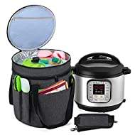 Luxja Carrying Bag for Instant Pot Duo V2 7-in-1, Bag for Pressure King Pro 6 litre, Travel Tote Bag...