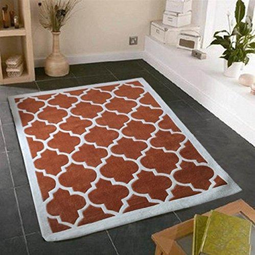 Carpet WTL Tappeto Semplice Soggiorno Tavolino Moquette Camera Manuale Completo Negozio di tappeti Comodino Filati acrilici Ispessimento (Dimensioni : 140CM × 200CM)