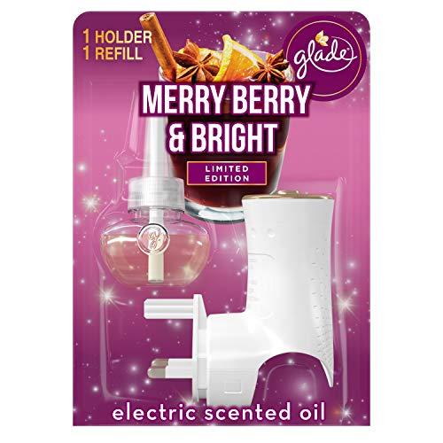 Glade Soporte eléctrico de aceite perfumado y recambio, ambientador enchufable para el...