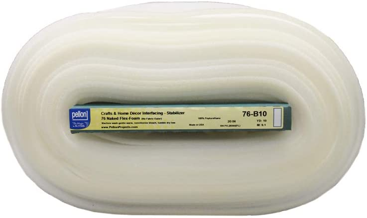 Cotton Natural Pellon 76 Flex Naked Foam Stabilizer 20 x 10 yd Bolt by The Yard