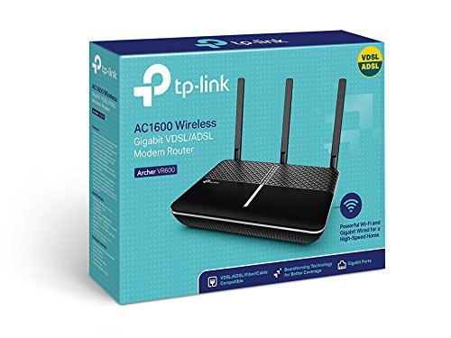 TP-Link Archer VR600 Modem Router Wifi Gigabit AC1600 Dual Band, ADSL/VDSL, VPN, 4 Ports Gigabit, Beamforming, Management App Tether Android/iOS nur für Österreich/Schweiz