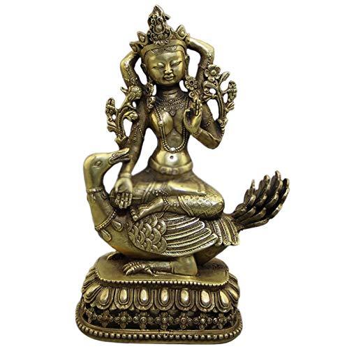 KKJJ Figura de Buda Sentado Escultura Decoración, Latón Tibetano Estatua de Buda Medicinal Feng Shui Buda Sentado Decoración, para Casa Escultura para Regalo,Plata