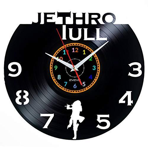 """EVEVO Jethro Tull Reloj De Pared Vintage Diseño Moderno Reloj De Vinilo Colgante Reloj De Pared Reloj Único 12"""" Idea de Regalo Creativo Vinilo Pared Reloj Jethro Tull"""