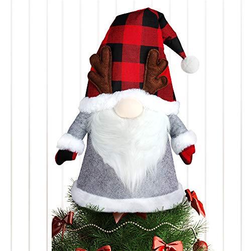 Baodlon Gnome Christmas Tree Topper, 27.5 Inch Large Santa Tree Topper, Swedish Tomte Christmas Tree Ornament, Scandinavian Christmas Decorations, Holiday Winter Wonderland New Year Xmas Home Decor