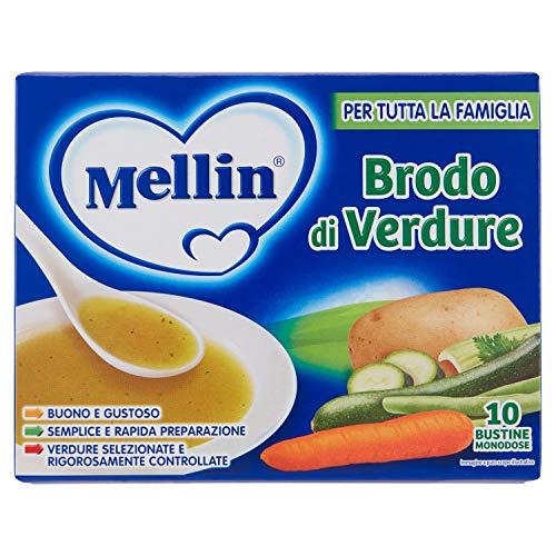 Mellin Brodo Verdure, 10 x 8g