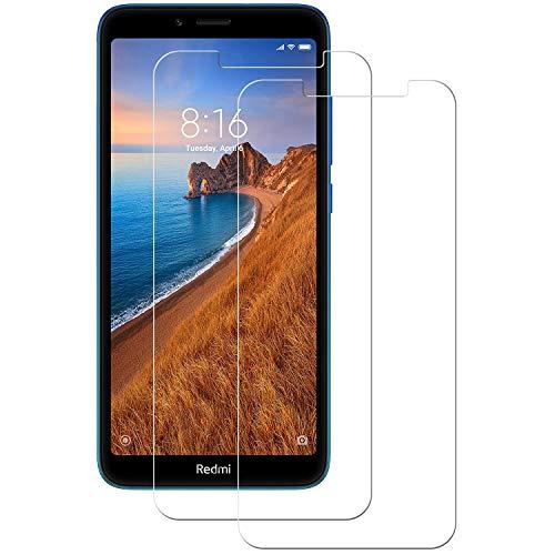 POOPHUNS Cristal Templado Xiaomi Redmi 7A,[2-Unidades] Protector de Pantalla para Xiaomi Redmi 7A [Alta Definicion, 9H Dureza, Resistente a Arañazos]