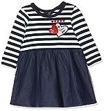 IKKS Junior Robe Mariniere BI Matiere Tulle, Bleu (Navy 48), 3-6 Mois (Taille Fabricant:3M) Bébé Fille