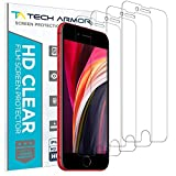 Tech Armor HD Clear Film Screen Protector (Not Glass) for Apple iPhone SE 2020, iPhone 7, iPhone 8 (4.7-inch) [3-Pack]