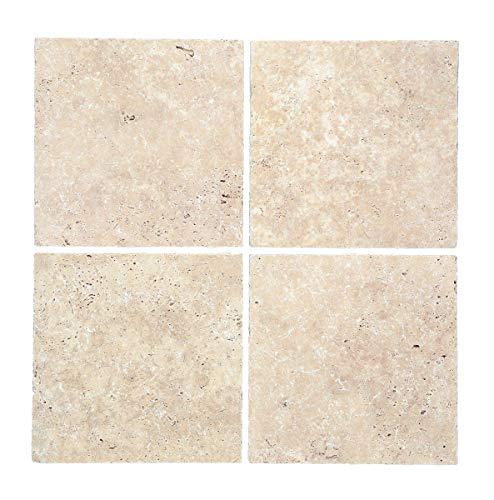 Fliese Travertin Naturstein beige Fliese Chiaro Antique Travertin für BODEN WAND BAD WC DUSCHE KÜCHE FLIESENSPIEGEL THEKENVERKLEIDUNG BADEWANNENVERKLEIDUNG Mosaikmatte Mosaikplatte