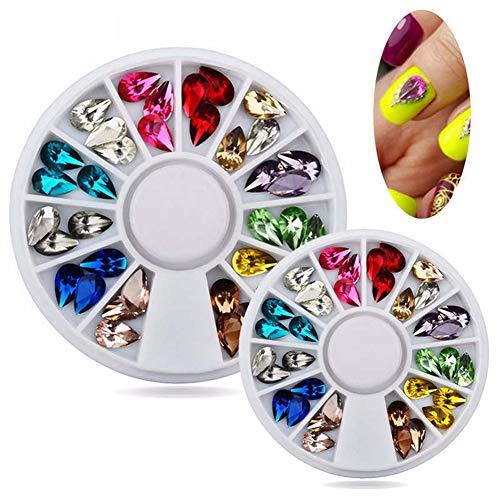Homeofying 3d Nail Art strass Glitters Acrylique Conseils Décoration Manucure outils de roue