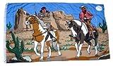 Flagge Fahne Cowboy & Indianer 90 x 150 cm FLAGGENMAE®