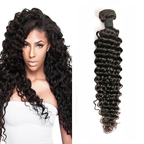 Daimer Brazilian Deep Wave Tissage 100% Vierge Brésilien Cheveux Extension Couleur Naturelle 16 Inches