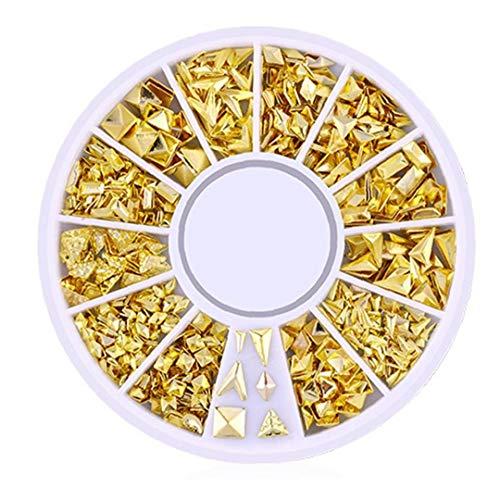 200 Count/Pack 3d Mini Nail Art Stud Stickers Glitter Métal Nail Supplies Charme Élégant Diy Beauty Nails Décorations Irrégulière Figure Série