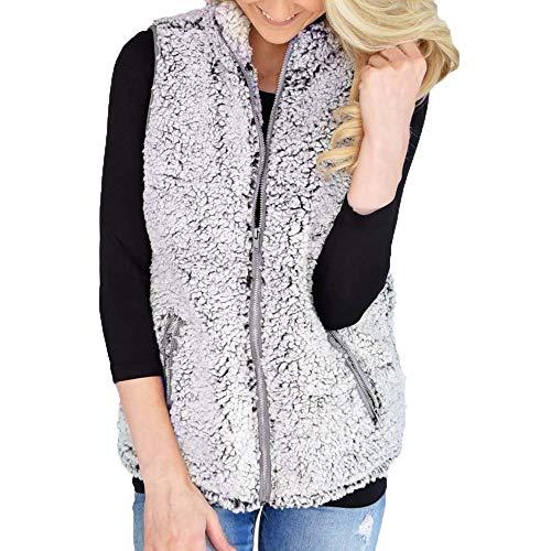 Vest kort wollen jas dames winterjas Vrouwen Meisjes Warm Outwear Parka Casual Faux Fur Zip Up Sherpa Jacket herfst winter M-2XL
